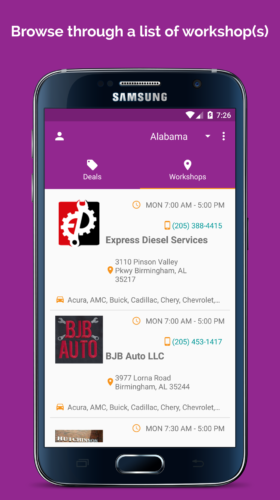 Discover auto mechanic by browsing through the list